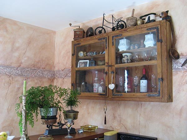 Wand Glasregal Holz