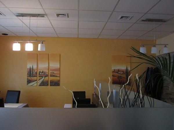 Raum Bild gelb