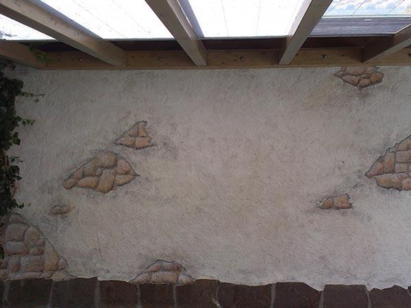 Wand Steine
